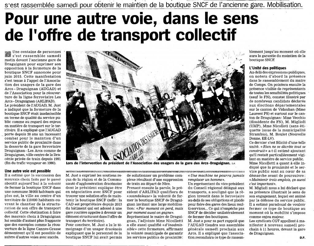 b50207 AUGAD Manifestation Boutique SNCF Marseillaise